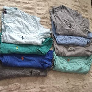 8 Polo Ralph Lauren Tees, Royal Blue wo pockets